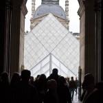 Louvre Pyramid Entrance Paris France 150x150 Sunflowers