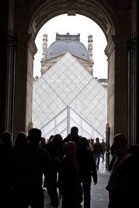 Louvre Pyramid Entrance Paris France 200x300 Louvre Pyramid